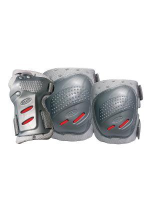 Комплект 3-х элементов защиты TEMPISH COOL MAX 3-set (knee+elbow+wrists) Серебро. Цвет: красный, серебристый