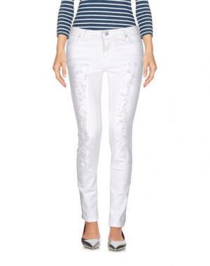 Джинсовые брюки SUERTE. Цвет: белый