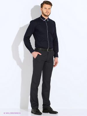Брюки мужские Interside. Цвет: темно-синий, черный