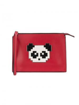 Декорированный клатч Panda Lego Les Petits Joueurs. Цвет: красный