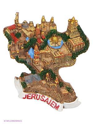 Магнит Иерусалим 3D Bethlehem Star. Цвет: коричневый
