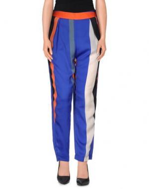 Повседневные брюки MADE FOR LOVING. Цвет: ярко-синий