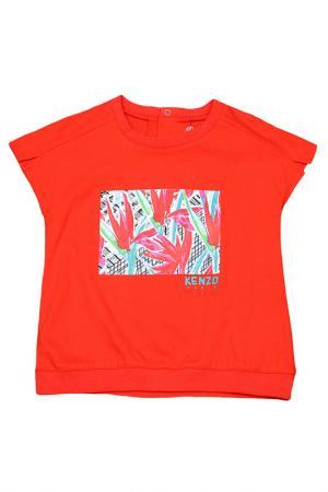 Футболка Kenzo. Цвет: оранжевый