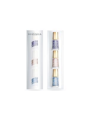 Набор лаков №1 Mavala. Цвет: голубой, фиолетовый, розовый