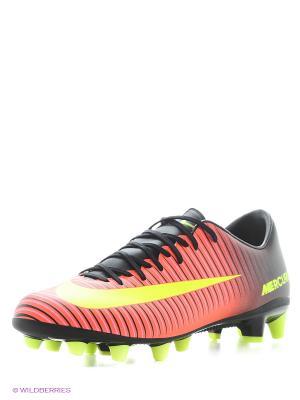 Бутсы MERCURIAL VICTORY VI AG-PRO Nike. Цвет: оранжевый