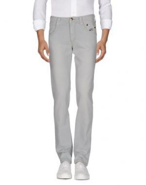 Джинсовые брюки CARLO CHIONNA. Цвет: серый