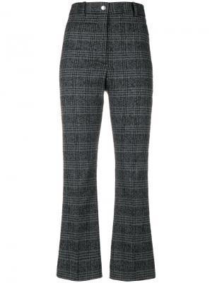 Укороченные брюки в клетку Wood. Цвет: серый