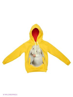 Толстовка Кролик Stella. Цвет: желтый