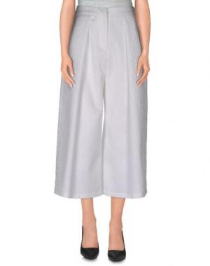 Повседневные брюки COMEFORBREAKFAST. Цвет: белый