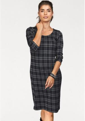 Платье BOYSENS BOYSEN'S. Цвет: серый/черный в клетку