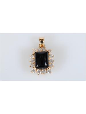 Подвеска с черным ониксом Lotus Jewelry. Цвет: черный