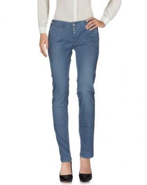 Повседневные брюки JFOUR. Цвет: грифельно-синий