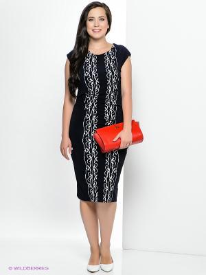 Платье Klimini. Цвет: темно-синий