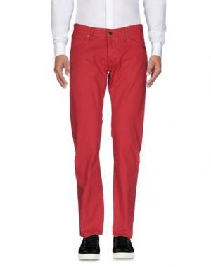 Повседневные брюки 2 MEN. Цвет: красный