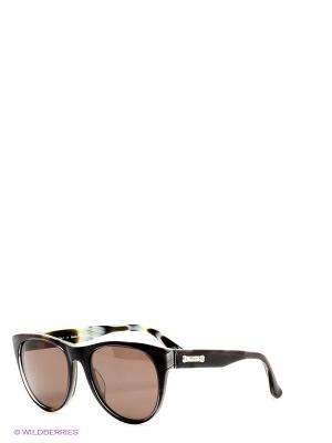Солнцезащитные очки Salvatore Ferragamo. Цвет: серый, черный