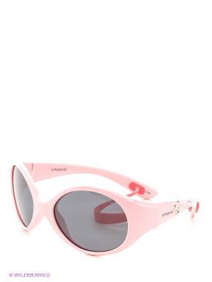 Солнцезащитные очки Polaroid. Цвет: бежевый, розовый