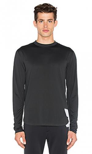 Легкая длинная футболка Satisfy. Цвет: черный
