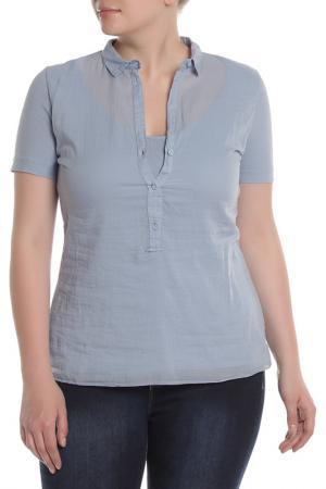 Рубашка EUROPEAN CULTURE. Цвет: голубой