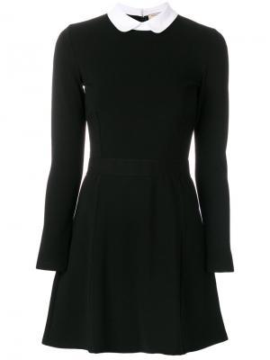 Приталенное платье А-силуэта Maison Kitsuné. Цвет: чёрный
