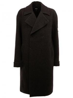 Однобортное пальто Yang Li. Цвет: серый