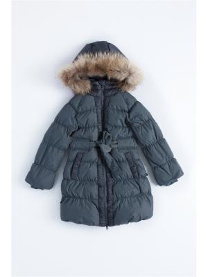 Пальто пуховое NELS. Цвет: серый