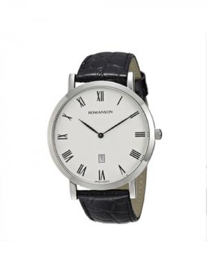 Часы TL5507CX Romanson. Цвет: черный, серебристый