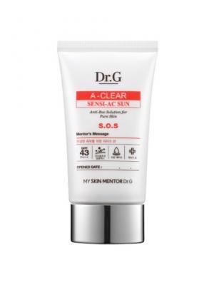 Крем солнцезащитный с регенерирующими свойствами для проблемной кожи SPF43 PA+++ A-Clear , 50 мл Dr.G. Цвет: белый