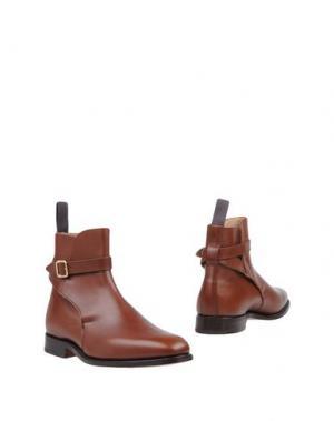 Полусапоги и высокие ботинки TRICKER'S. Цвет: коричневый