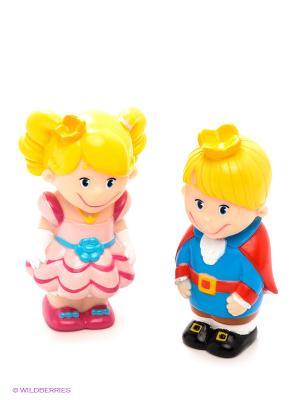 Набор из пластизоли Принц и Принцесса ЗАТЕЙНИКИ. Цвет: желтый, розовый