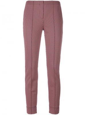 Укороченные брюки с принтом Luisa Cerano. Цвет: розовый и фиолетовый
