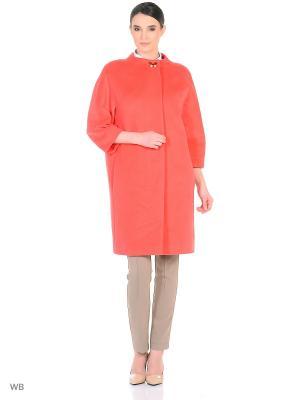 Пальто женское Lea Vinci. Цвет: розовый