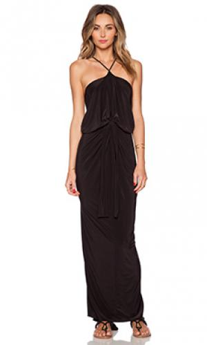 Макси платье tie front halter T-Bags LosAngeles. Цвет: черный