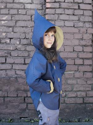 Куртка Тролль Sardina Baby. Цвет: темно-синий, желтый