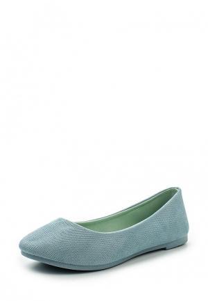 Балетки Ideal Shoes. Цвет: голубой