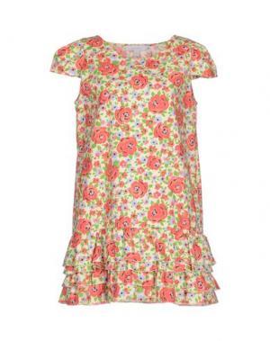 Короткое платье KAREN WALKER. Цвет: слоновая кость