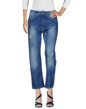 Джинсовые брюки BERNA. Цвет: синий