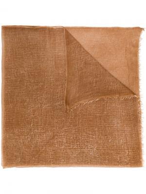 Шарф с бахромой Avant Toi. Цвет: коричневый