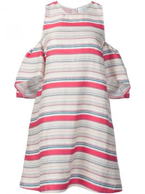 Платье в полоску Tanya Taylor. Цвет: телесный