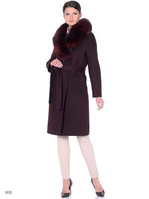 Пальто Anora. Цвет: темно-бордовый