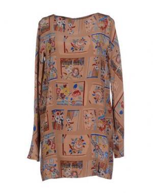 Короткое платье AILANTO. Цвет: бежевый