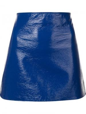 Лакированая юбка Courrèges. Цвет: синий