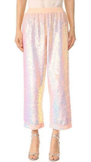 Пижамные брюки с блестками ASHISH. Цвет: персиковый