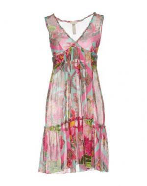 Короткое платье EMAMÒ. Цвет: фуксия
