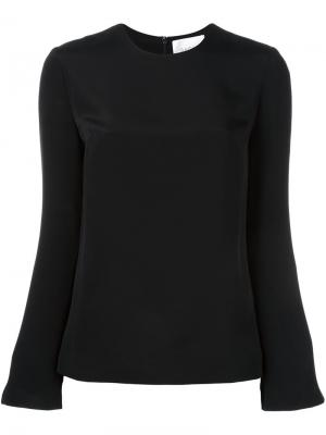 Блузка с круглым вырезом и длинными рукавами Racil. Цвет: чёрный