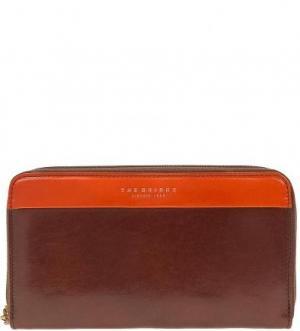 Коричневый кошелек из натуральной кожи The Bridge. Цвет: коричневый
