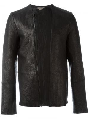 Фактурная байкерская куртка Tony Cohen. Цвет: чёрный