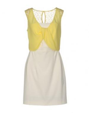 Короткое платье ANNARITA N.. Цвет: желтый
