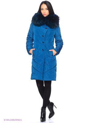 Стеганое пальто Electrastyle. Цвет: морская волна