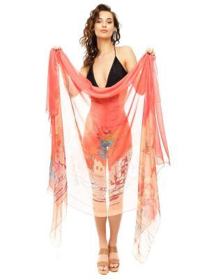 Парео женское Auri. Цвет: коралловый, персиковый