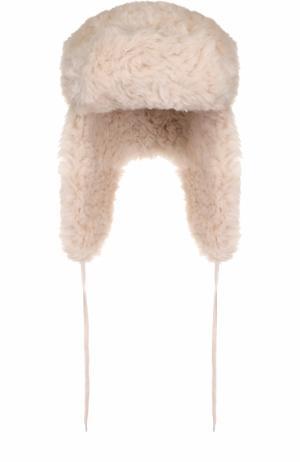 Утепленная шапка-ушанка Vika Gazinskaya. Цвет: кремовый
